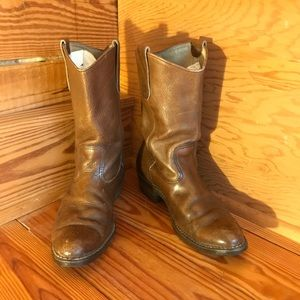 Red Wing Tan Leather Boots, EUC, 7.5